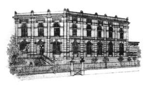 Zeichnung des Logenhauses